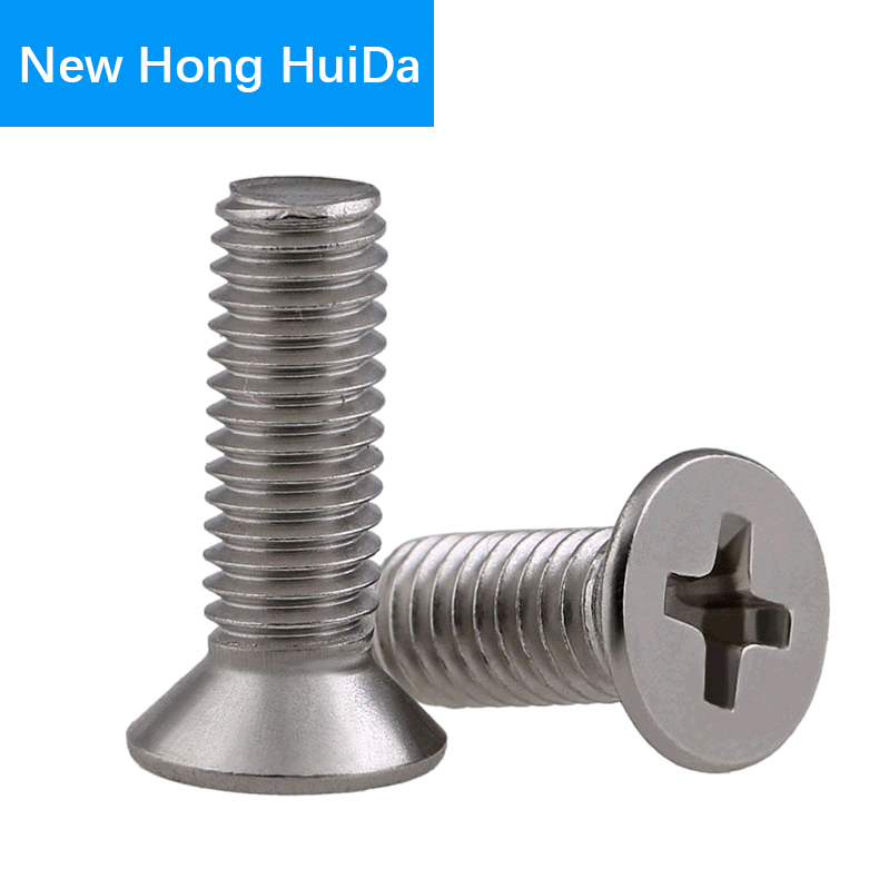 Phillips Flat Head Cross Recessed Screw Countersunk Thread Metric Machine Bolt 304 Stainless Steel M8 in Screws from Home Improvement
