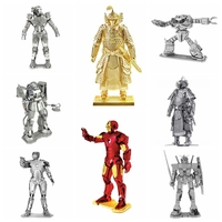 3D Puzzle Diy Metal Assembly Pure Metal Full Stainless Steel Assembled Gundam Model Up