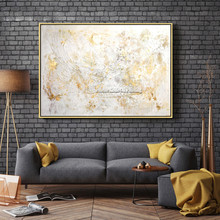 Canvas painting decor quadro decoracion acrylic abstract Palette Knife gold Wall art Picture for living room home 86