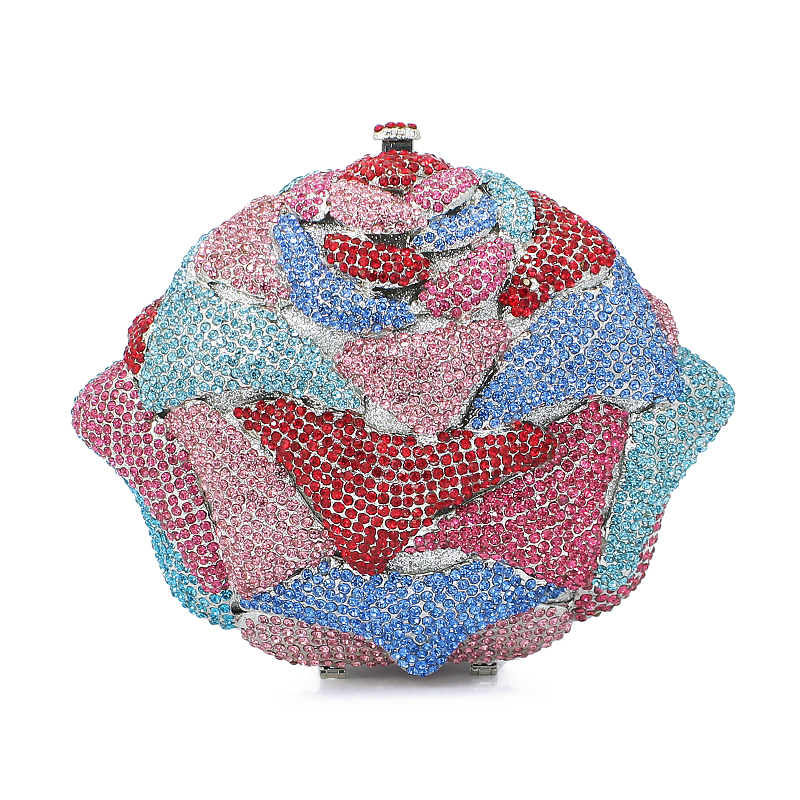 flower shape diamond crystal clutch evening bag ladies handbag evening bags cluth (8746A-BP)flower shape diamond crystal clutch evening bag ladies handbag evening bags cluth (8746A-BP)