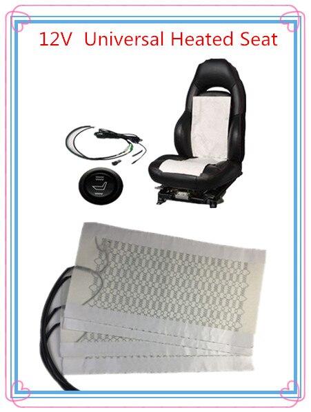 2 место установлен универсальный подогрев сидений Чехлы для автомобиля Pad углеродного Волокно Отопление круглый Swtich зимние теплые нагреват...