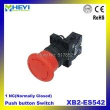 XB2-ES542 Красный Гриб Аварийного Останова Кнопочный Переключатель 1 NC КНОПОЧНЫЙ ПЕРЕКЛЮЧАТЕЛЬ XB2 электрический