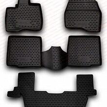 Коврики, чехол для Ford Explorer 2011-, 5 шт. резиновых ковриков, Нескользящие резиновые аксессуары для салона автомобиля