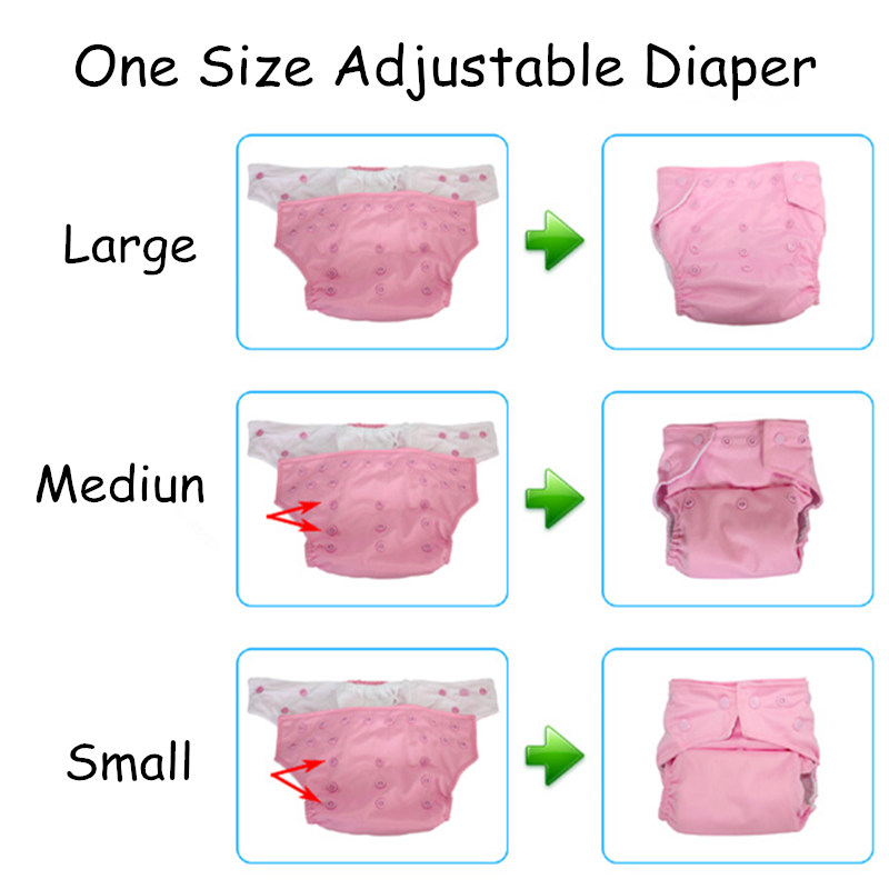 [Mumsbest] 10 Pcs Baby Cloth Diapers Nappies With 10 Inserts Washable Waterproof Reusable diaper Suit 0-2 years 3-15kg