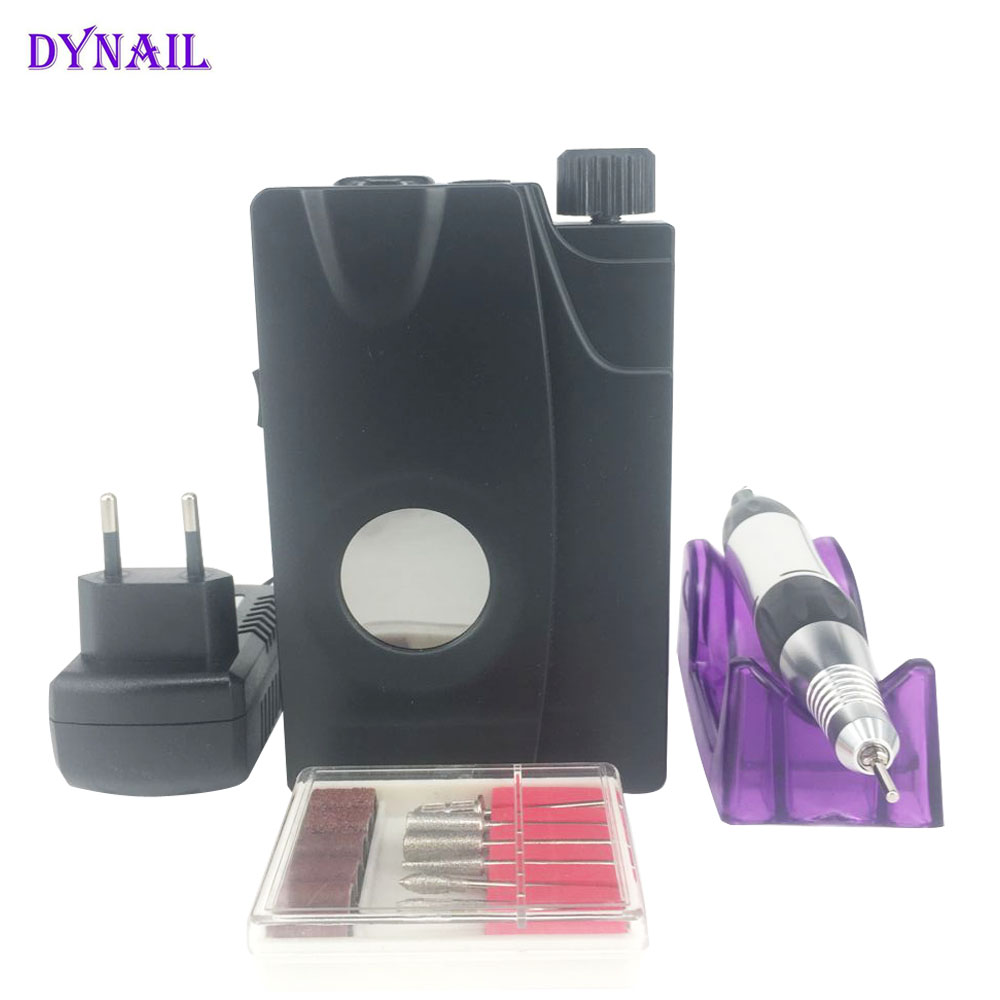 Rechargeable 18W 30000RPM Portable Electric Nail Drill Machine Rechargeable Cordless Manicure Pedicure Set For Nail Art Tools excellet value 1 pc blue medium 3 32 white ceramic nail drill bit manicure professional electric manicure cutter nail tools