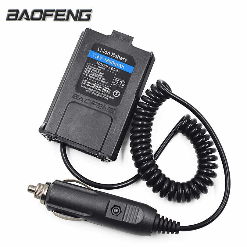 Baofeng 12V Car Charger Battery Adapter Eliminator for Baofeng Walkie Talkie UV5R UV-5R UV-5RE Plus UV-5RA Plus Radio