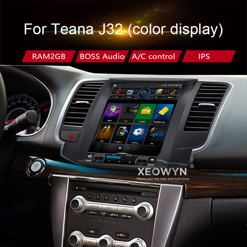 Android 7.0 navigation gps 10.1 pour Nissan teana J32 2008-2012 RAM2GB autoradio 1080 P Vidéo Bluetooth WIFI mirrorlink