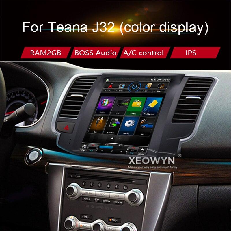 Android 7.0 navigation gps 10.1 pour Nissan teana J32 2008-2012 RAM2GB autoradio 1080 P Vidéo Bluetooth WIFI mirrorlink