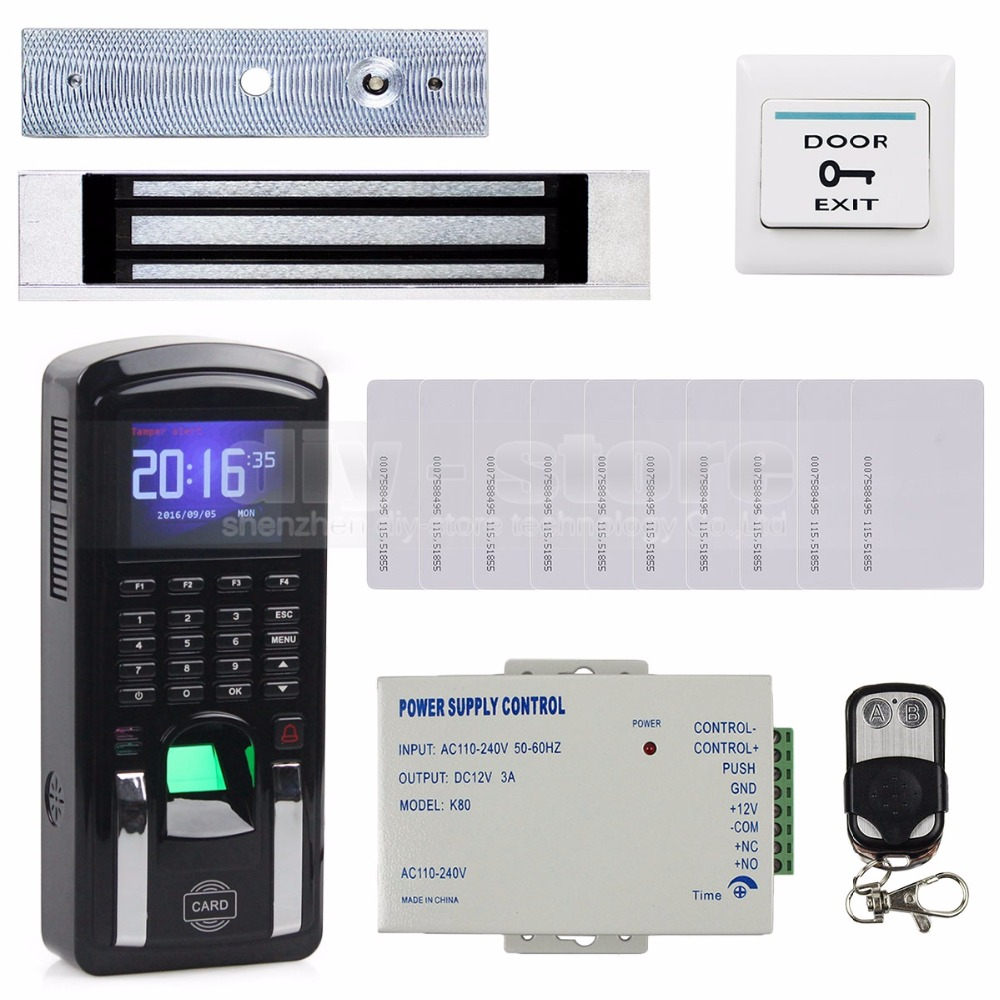 DIYSECUR TCP/IP USB Fingerprint ID Card Reader Password Keypad Door Access Control System + Power Supply + Magnetic Lock Kit usb pos numeric keypad card reader white