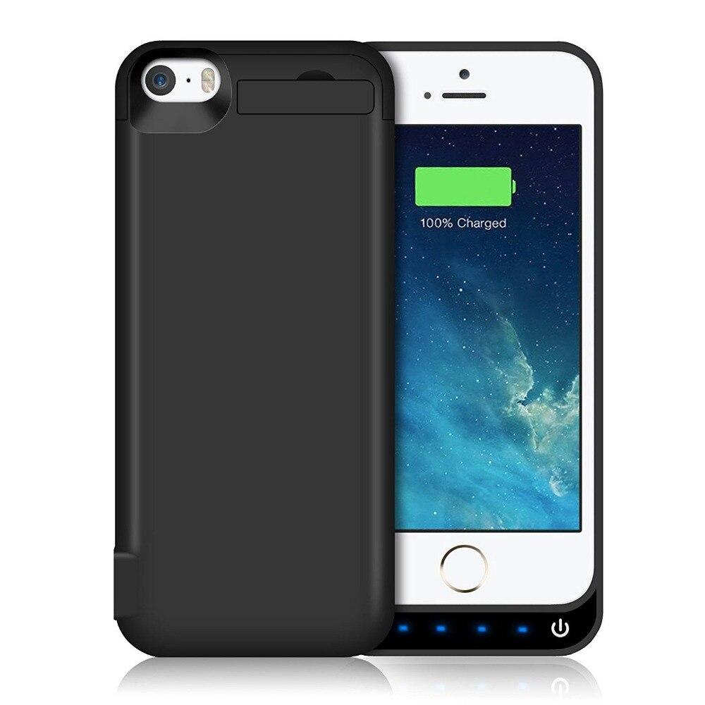 bilder für Neue 4600 mAh Portable Backup Externes Ladegerät Fall Energienbank Pack Aufladen-kasten-abdeckung Für iPhone 5/5 S/SE Batterie fall