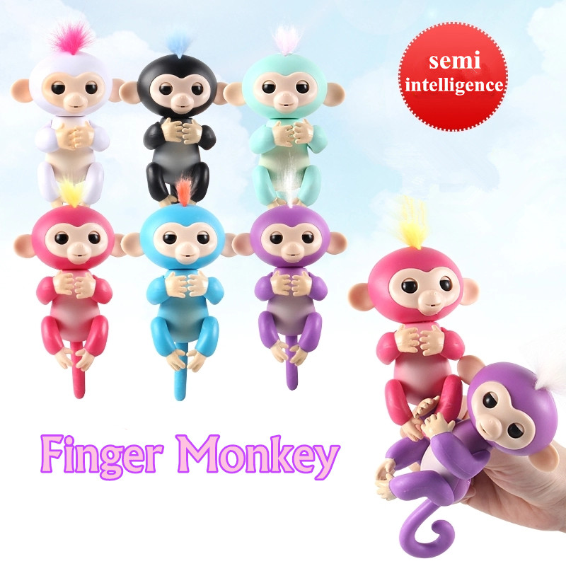 2017 Finger Monkey half-intelligent Pet Monkey Electronic Pet Toys shake the hody it sound and light attention no full function