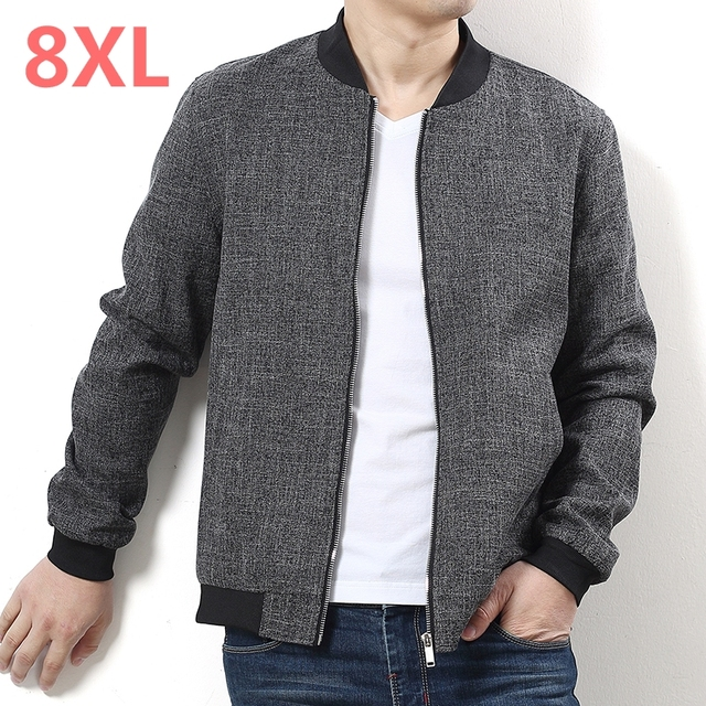 Plus size 10XL 9xl 8xl 6xl New 2017 Jacket Men Fashion Casual Loose Mens Jacket Sportswear Bomber Jacket Mens jackets and Coats