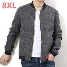 Plus size 9xl 10XL 8xl 6xl Nuovo 2017 Uomini Giacca Moda Allentato casuale Mens Sportswear Giacca Bomber Jacket Mens giacche e Cappotti
