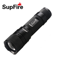 LED Zoom Flashlight Supfire F3-L2 Zoomable Flash Light Mini Linterna for Nitecore Olight Surefir Fenix Nicron Lantern A034