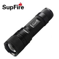 LED Zoom Flashlight Supfire F3 L2 Zoomable Flash Light Mini Linterna LED for Nitecore Olight Surefir Fenix Nicron Lantern A034