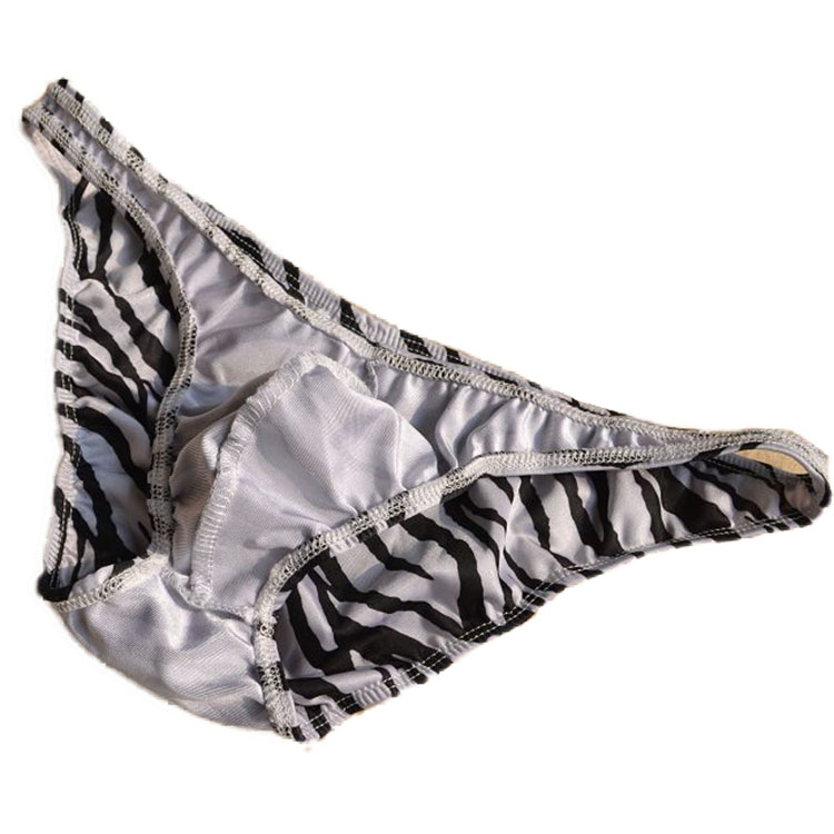 46903cdb307d גברים ' s תחתונים Sexy men briefs Male three-dimensional cut zebra print  men's low-waist briefs underwear panties