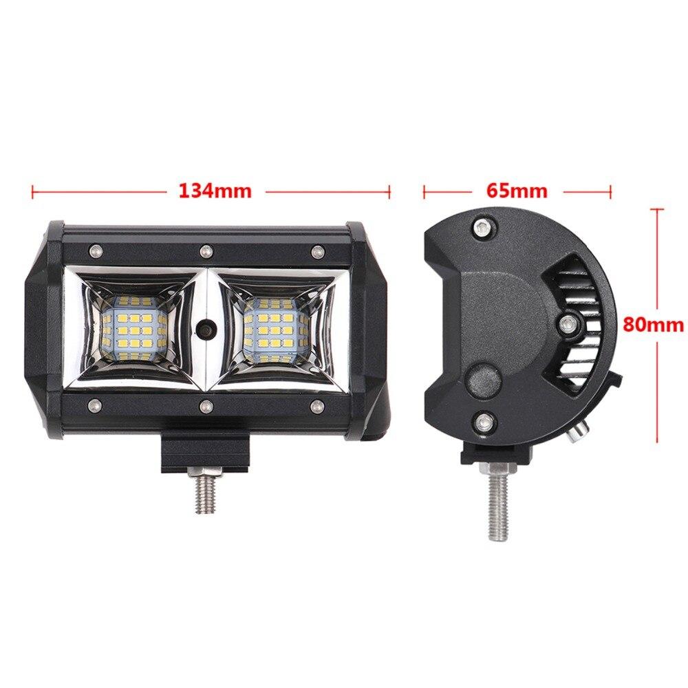2PCS 5 INCH OFFROAD LED WORK LIGHT BAR FLOOD LAMP 12V 24V CAR TRUCK TRAILER PICKUP WAGON 4WD RZR 4X4 VAN CAMPER MOTOR HEADLIGHT