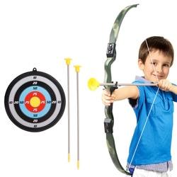 Juguetes para niños tiro con arco y flecha papel de destino tablero de dardos tiro de juguete para deportes al aire libre gimnasia de plástico
