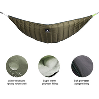 Multifunctional Outdoor Camping Hammock Sleeping Bag Lightweight Cotton Underquilt Sleeping bags Under Blanket 0 10C