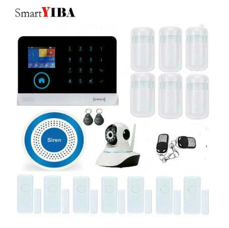 SmartYIBA Wireless SIM GSM Home RFID Burglar Security LCD Touch Keyboard WIFI GSM Alarm System Sensor kit wireless sim gsm home rfid burglar security lcd touch keyboard wifi gsm alarm system sensor kit english russian spanish french