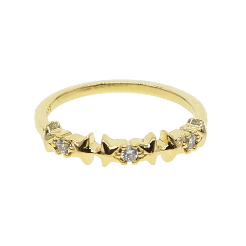 2019 แฟชั่น 2 สีคริสตัลดาวขนาดเล็ก CZ แหวน Tiny Delicat Rose/Gold สีแหวน Zircon Shining เครื่องประดับ Bijoux Femme