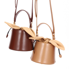 Vento Marea Leather Women Bag 2019 Brand Rabbit Ears Shoulder Handbag Ladys Messenger Totes Luxury Designer Bucket Crossbody