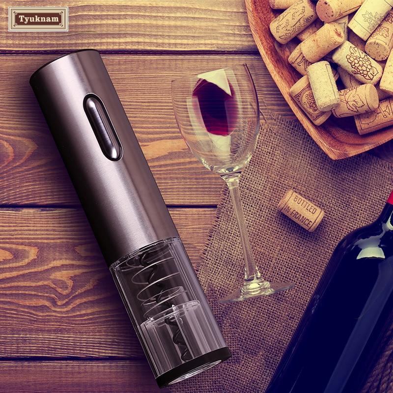 Rechargeable Electric Wine Bottle Opener Pourer Stopper Cordless Cork Foil Cutter Stopper Cap LED Light USB Recharge Bar Too