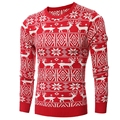fashion 2016 men brand winter sweater deer men good quality long sleeve mens sweaters pullover men casual size 2xl