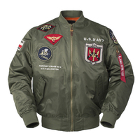 New Autumn Top gun 2018 Us navy MA1 letterman varsity baseball Pilot air force flight college tactical military army streetwear