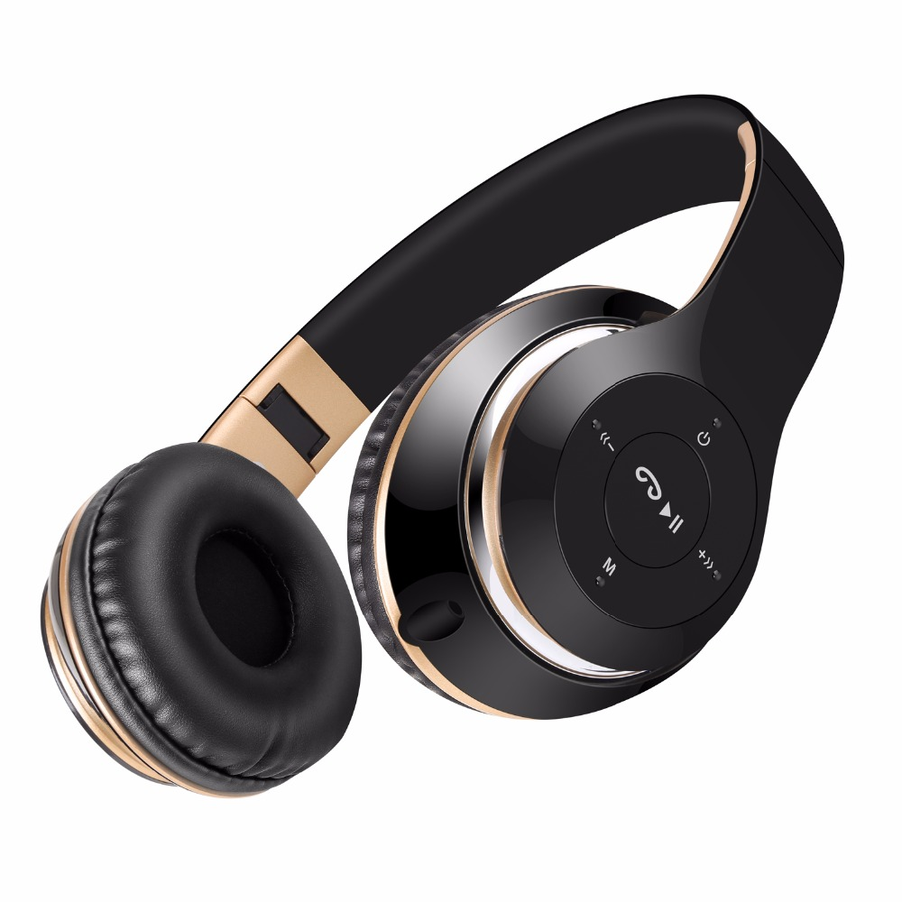 Wireless Headphones Bluetooth Headphone with Microphone Support TF Card FM Radio Adjustable Headset for PC mobile phone MP3 earphones and headphones bluetooth wireless sport handsfree with microphone fm radio mp3 player tf card wired stereo headset