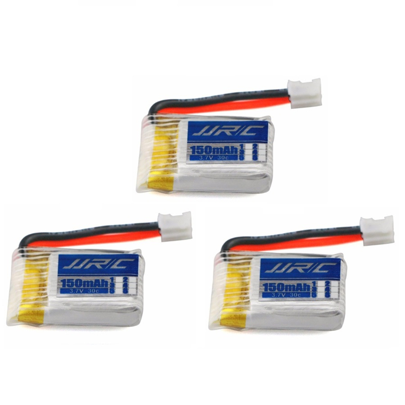 3pcs/lot for JJRC H36 3.7V 150mAh Lipo Battery For H36 H67 F37 3.7 v Li-po Battery RC Quadcopter Spares Parts Toys Accessories