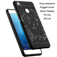 COCOSE Drop Resistance Rugged Tough Armor Cover Case For Huawei P9 Lite G9 Lite Silicon Rubber