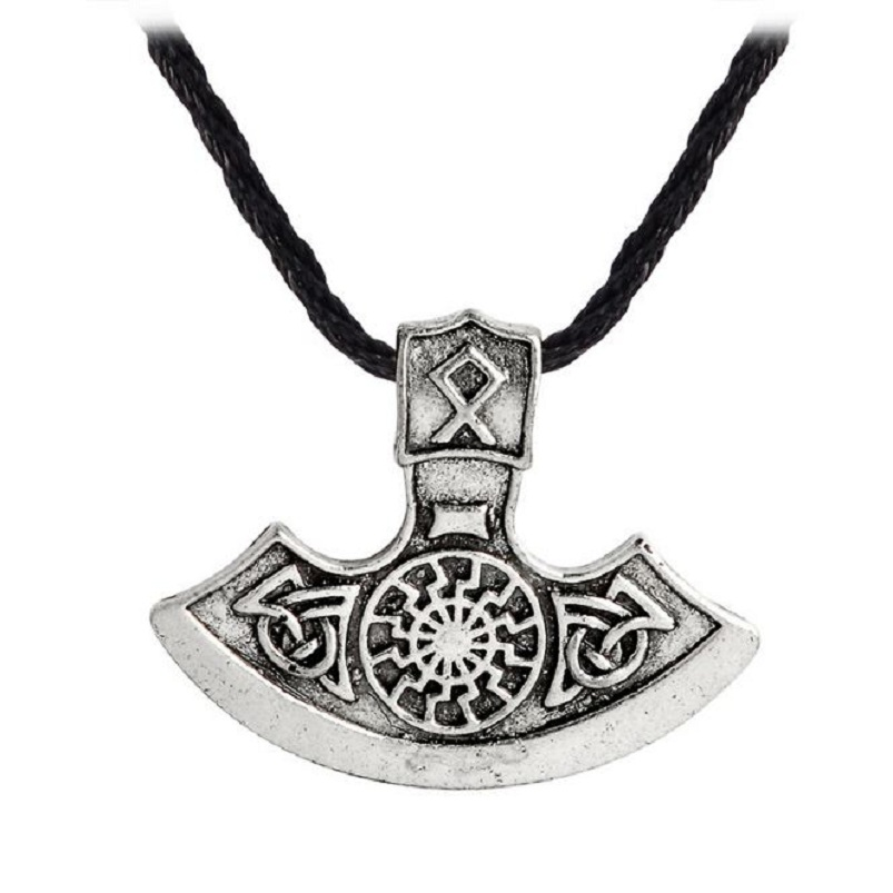 Jewelry & Accessories Pendant Necklaces Exquisite Fashion Nordic Viking Accessories Black Copper Sun Peron Axe Pendant Hat Backpack Clothes Accessories Gifts