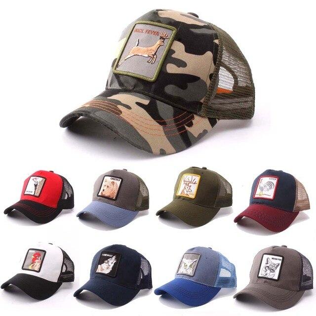 2019 Fashion Summer Trucker Cap Animal Patch Baseball Cap Men Women Mesh Hat  Gorra Animales Unisex 4af0b37e136