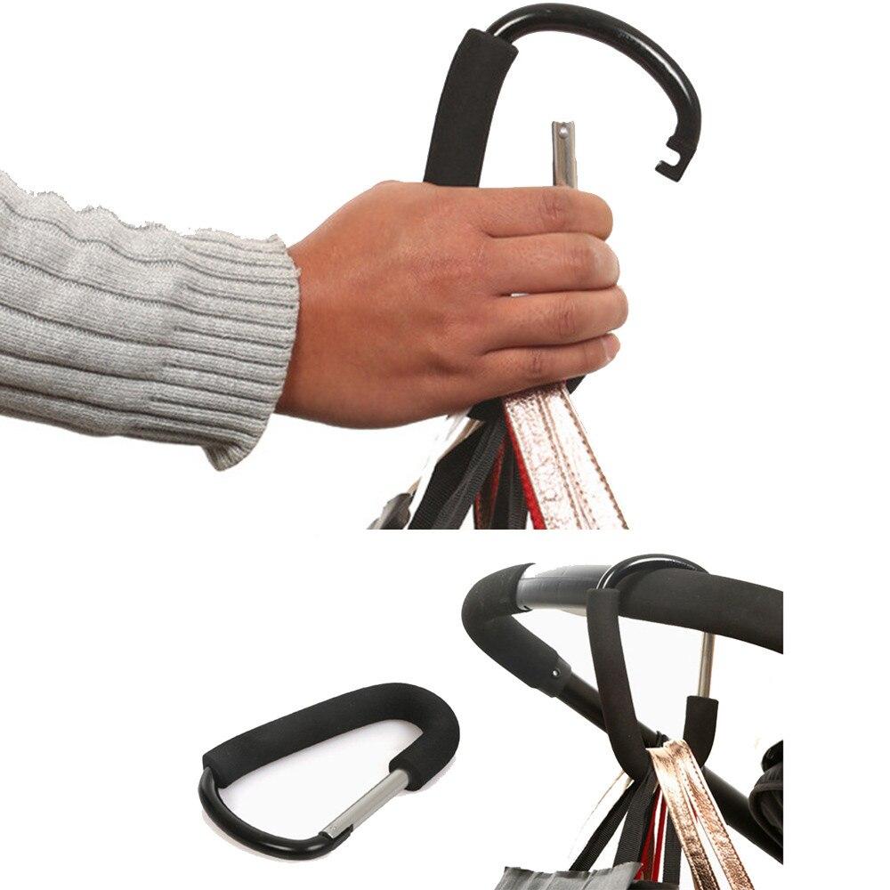 BIG D-RING KEYCHAIN HANG BUCKLE 16CM SNAP CLIP SAFE HOOK CARABINER SHOPPING BAF