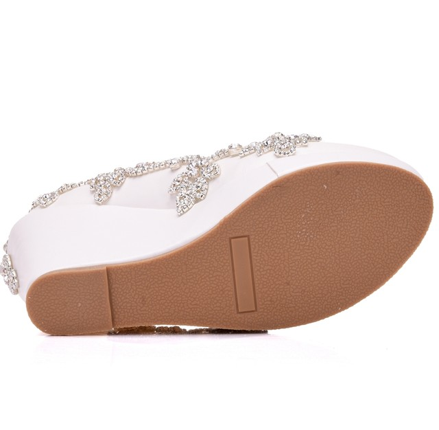 Online Shop Fashion rhinestone wedges pumps heels wedding shoes ...