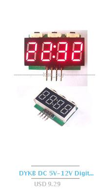 Relógio integrado do tubo do fulgor de