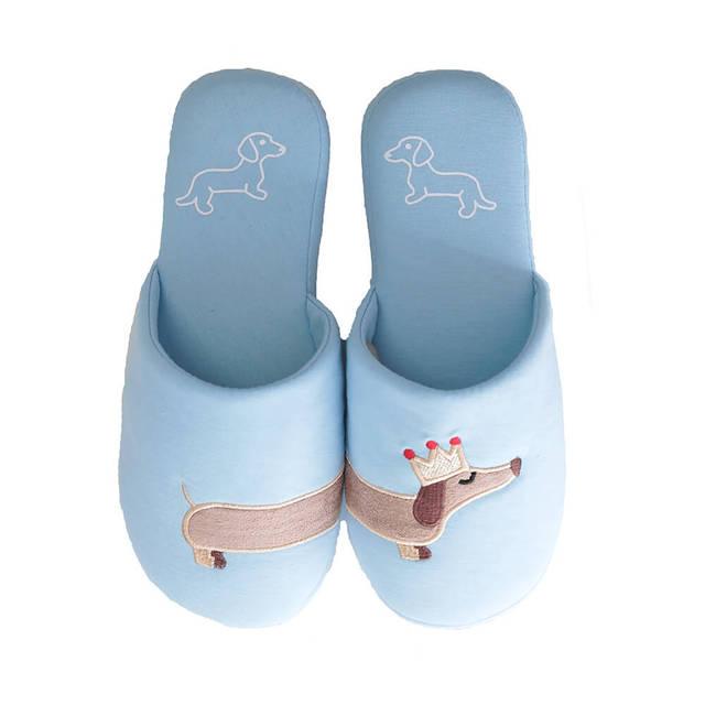 e212d355efb5 Millffy Women s unicorn slipper Fuzzy Pink and light blue dog plush cotton  Slippers slip on Dachshund
