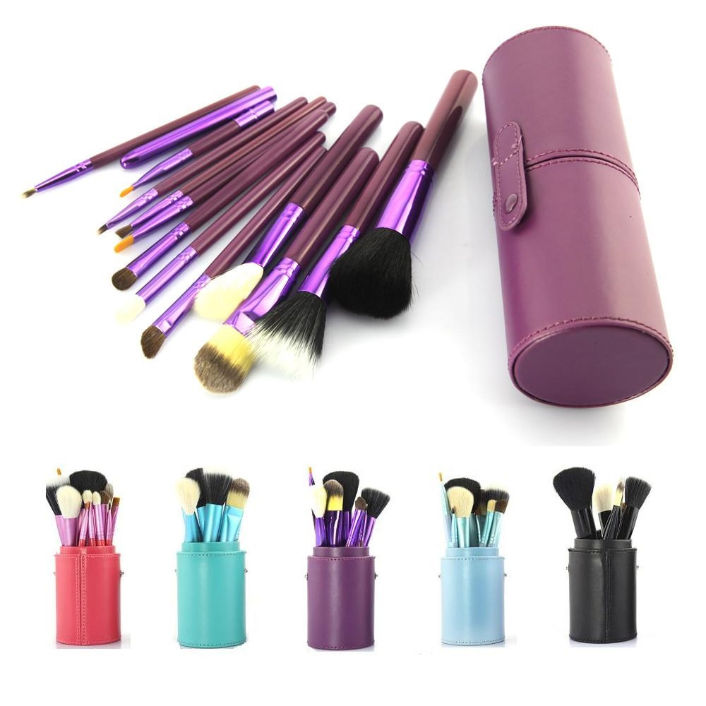12 PCS purple Makeup Brushes Professional Cosmetic Set wood hand to Make Up Brush Eyeshadow Brush Blusher Tools with Holder Case professional 29 keys programmable mechanical usb wired one hand gaming keyboard rgb led backlit backlight for pro gamer