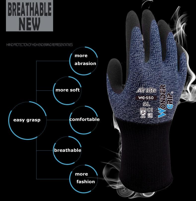 Spandex enveloppé de Nylon avec des gants de travail de jardin enduits de mousse de Nitrile