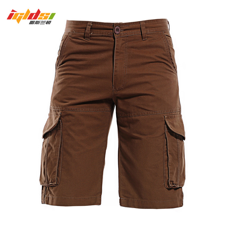 IGLDSI Mens Tactical Military Cargo Shorts New 2018 Summer Casual Beach Jeans Shorts Men Multi-pocket Camouflage Short Trousers