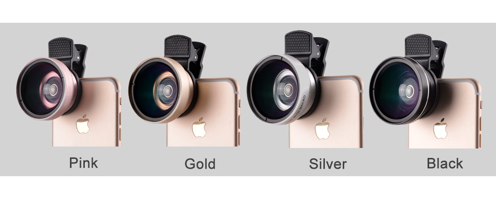 37mm 0.45X Super Wide Angle Lens 12.5X Macro Lens Clip For iPhone Xiaomi Samsung Cell Phone Lens 2 in 1 Camera Lens Kit 1