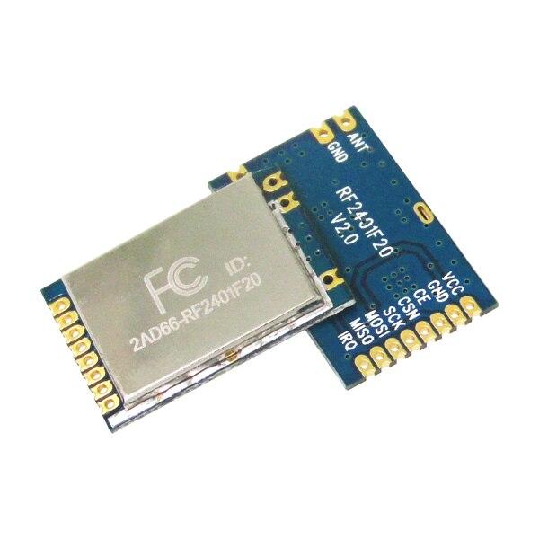 4 set/lote FCC aprobación RF2401F20 largo alcance 20dBm alta sensibilidad 2.4 GHz nrf24l01 + módulo 100 MW 2.4g nrf24l01 pa LNA módulo