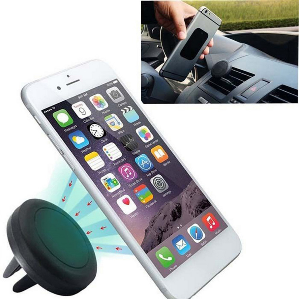 Universal Car Holder Magnetic Air Vent Mount Dock mobile phone holder For iPhone 6s Samsung HTC celular carro hot selling car swivel air outlet mount holder for htc one s black