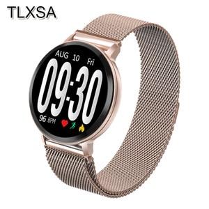 Image 1 - TLXSA ספורט Bluetooth כושר גשש חכם שעון עמיד למים שינה קצב לב לחץ דם ניטור שעון עבור אנדרואיד IOS