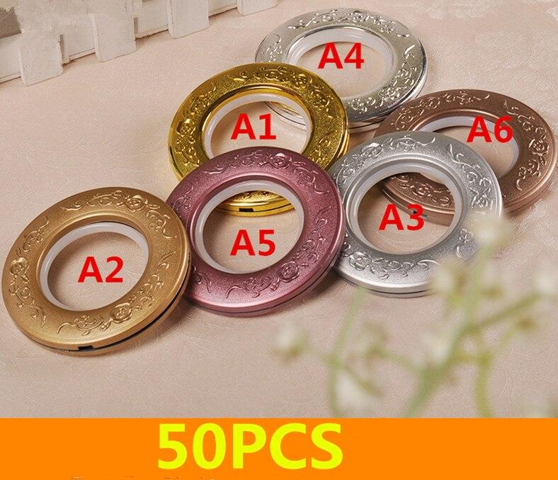 Doeltreffend 50 Stks/partij Hoge Kwaliteit Plastic Zilver Gordijn Accessoires Ring Roman Tule Voor Gordijnen Gat Graven Cirkel Cortinas