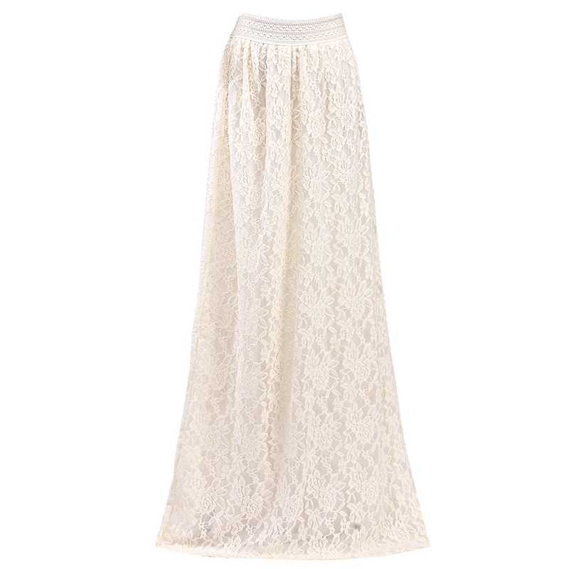 2016 Hot Summer Style women skirts New lace Boho Long Maxi Skirts Beach Layered Skirt short dresses office wear