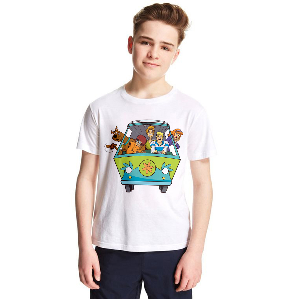 Scooby Doo Mystery Machine Kids T Shirt Children Boys and Girls Summer T-shirt Cartoon Cool Tshirts Casual Basic Tops Tees Baby