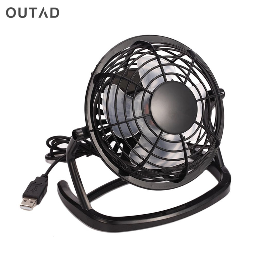 New Mini PC USB Desk Fan USB Cooler Cooling Super Mute Durable Soft Fan Blades Up to Down Adjustable Angle USB Fan High Quality aluminum alloy mute cooling fan black orange