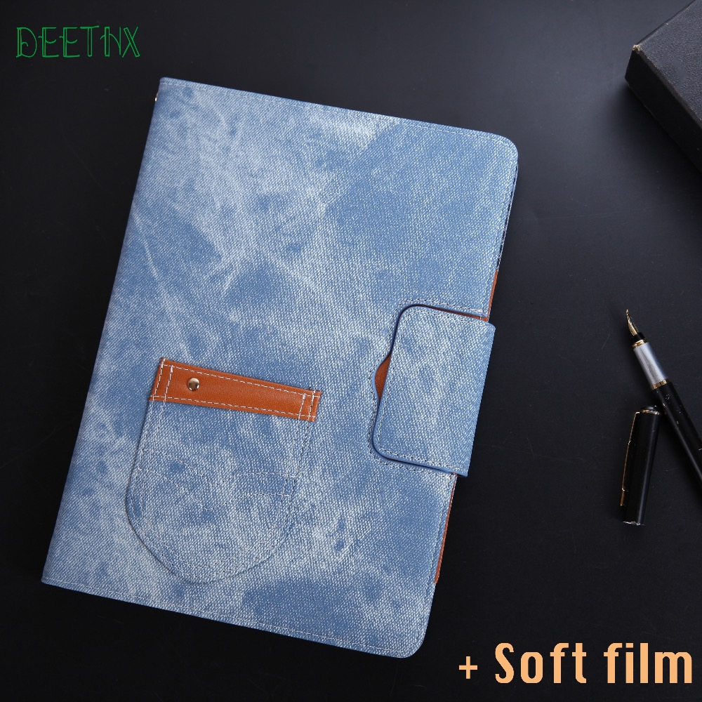 DEETHX,Jeans Leather Case Stand Skin For Apple iPad Air 2, Air, pro 9.7,for New ipad A1822 A1823 A1893 Tablet Smart Cover shell simple blue sky flip cover for ipad pro 9 7 10 5 air air2 mini 1 2 3 4 tablet case protective shell for new ipad 9 7 2017 a1822